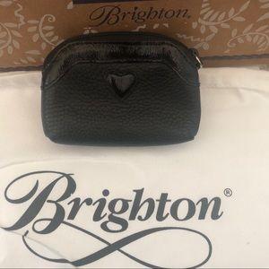 Brighton black leather coin purse